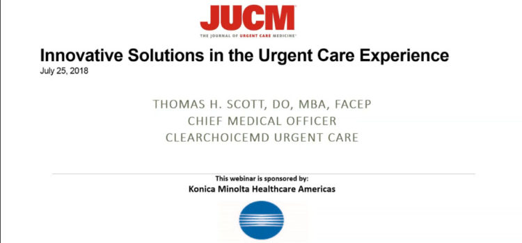 Innovators in Urgent Care Series Webinar