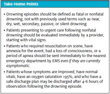 Nonfatal Drowning Take-Home Points