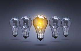 Bulb Idea Light Creative Innovation Leader - Stock Image
